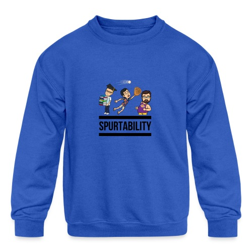Spurtability Black Text - Kids' Crewneck Sweatshirt