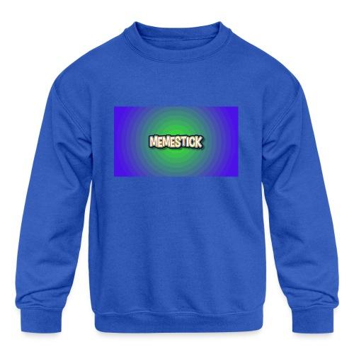 memestick symbol - Kids' Crewneck Sweatshirt