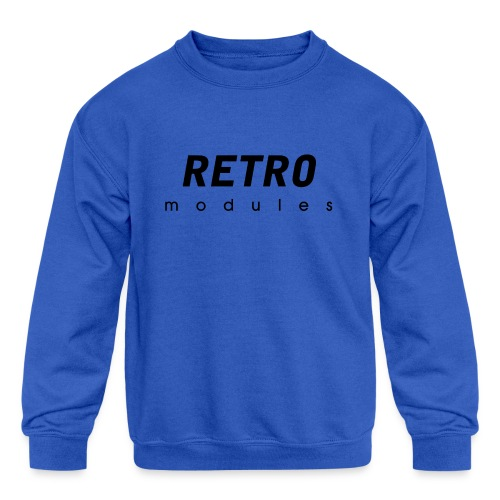 Retro Modules - sans frame - Kids' Crewneck Sweatshirt