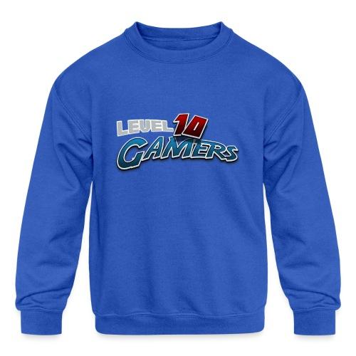 Level10Gamers Logo - Kids' Crewneck Sweatshirt