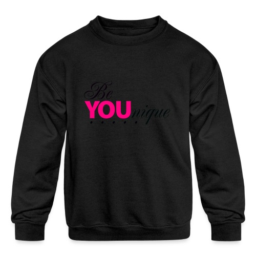 Be Unique Be You Just Be You - Kids' Crewneck Sweatshirt