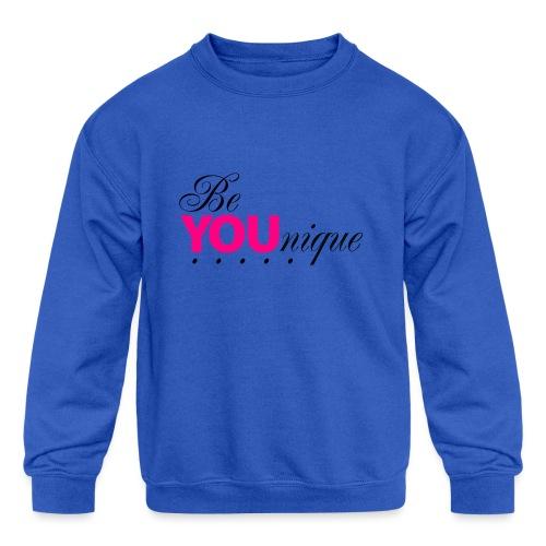 Be Unique Be You Just Be You - Kids' Crewneck Sweatshirt