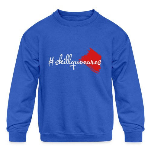 SkillQuo Cares - Kids' Crewneck Sweatshirt