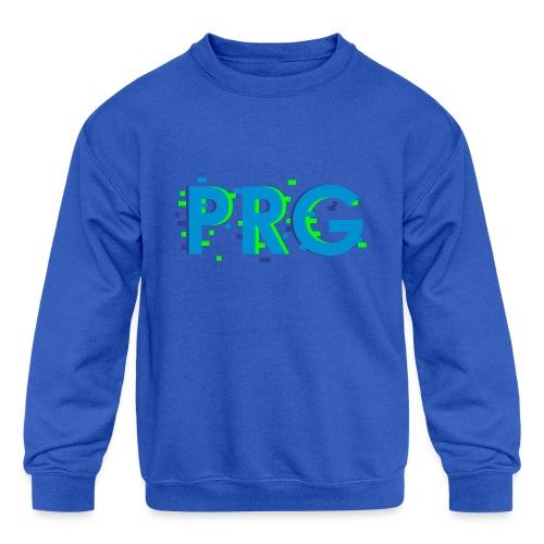 PRG distorted Neon libertarian Design - Kids' Crewneck Sweatshirt