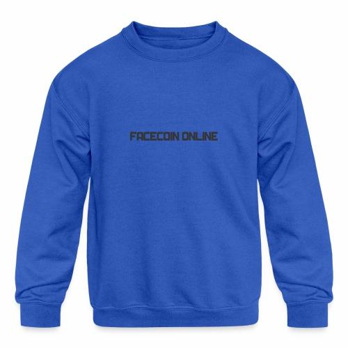 facecoin online dark - Kids' Crewneck Sweatshirt