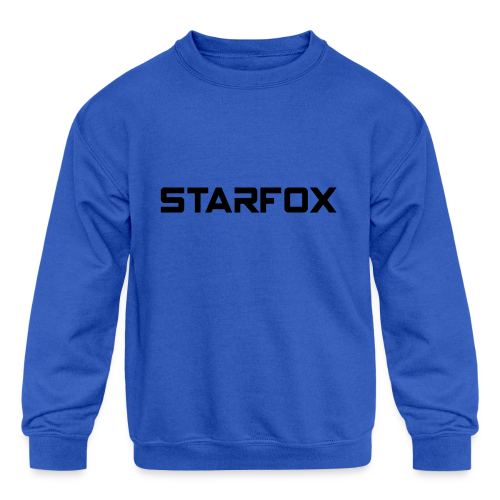 STARFOX Text - Kids' Crewneck Sweatshirt