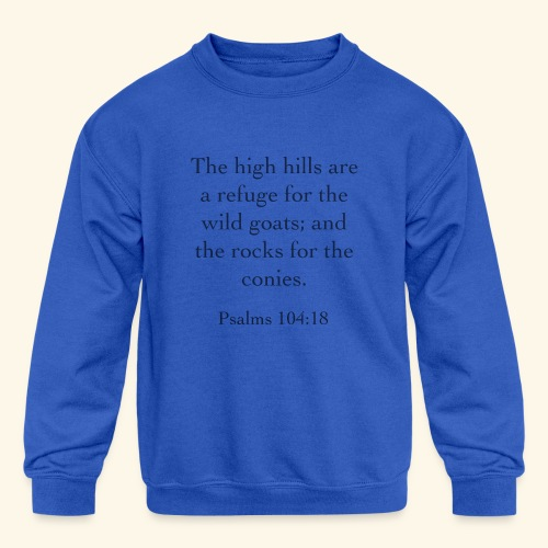 High Hills KJV - Kids' Crewneck Sweatshirt