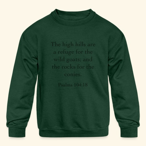 High Hills KJV - Kids' Crewneck Sweatshirt