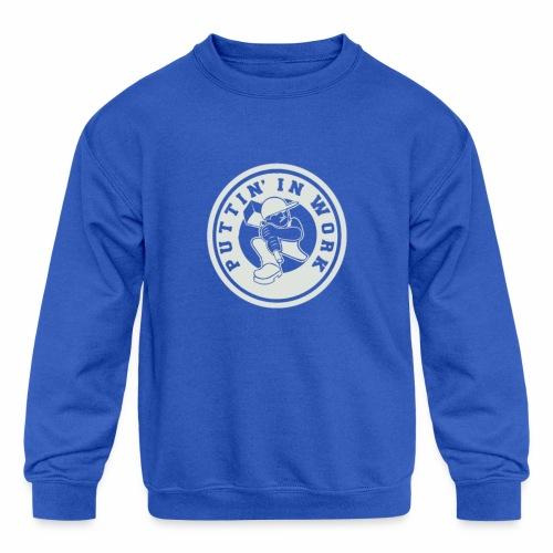 P.I.W White Logo - Kids' Crewneck Sweatshirt