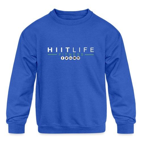 hlfsocialwht - Kids' Crewneck Sweatshirt