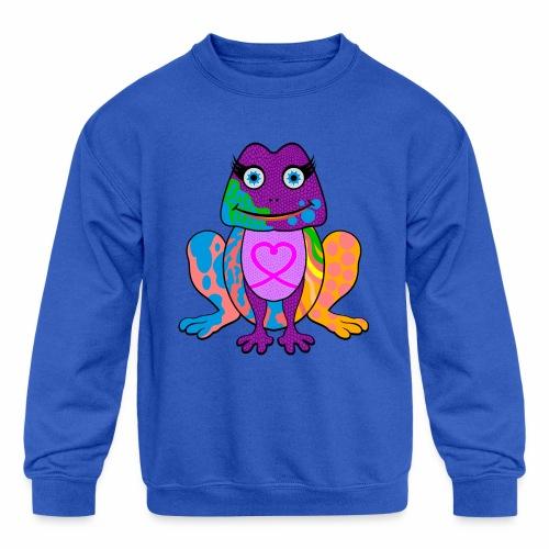 I heart froggy - Kids' Crewneck Sweatshirt