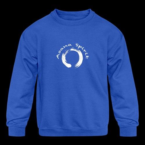 Enso Ring - Asana Spirit - Kids' Crewneck Sweatshirt