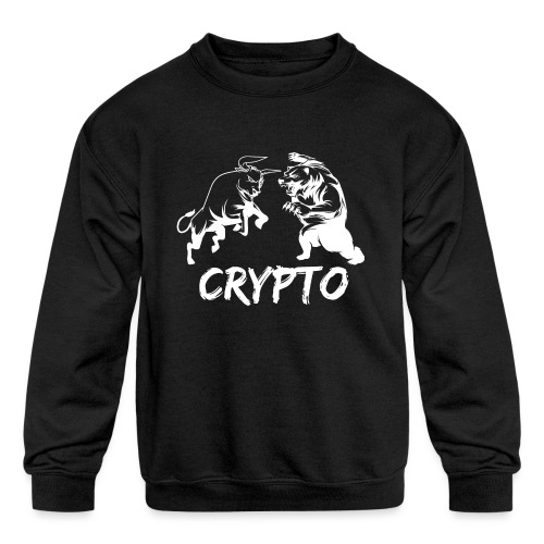 CryptoBattle White - Kids' Crewneck Sweatshirt