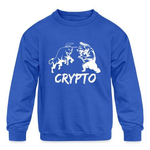 CryptoBattle White - Kids' Crewneck Sweatshirt