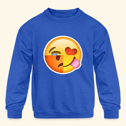 E Tees , Unique , Love , Cry, angry - Kids' Crewneck Sweatshirt