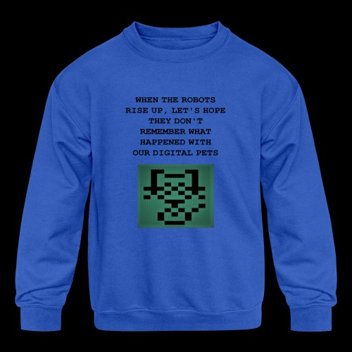 Funny Digital Pet Graphic - Kids' Crewneck Sweatshirt