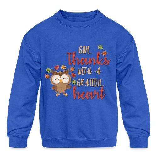 Give Thanks - Kids' Crewneck Sweatshirt
