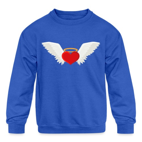 Winged heart - Angel wings - Guardian Angel - Kids' Crewneck Sweatshirt