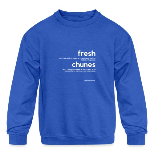 Clothing for All Urban Occasions (Bk+Wt) - Kids' Crewneck Sweatshirt