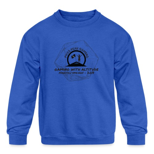 Pikes Peak Gamers Convention 2018 - Clothing - Kids' Crewneck Sweatshirt