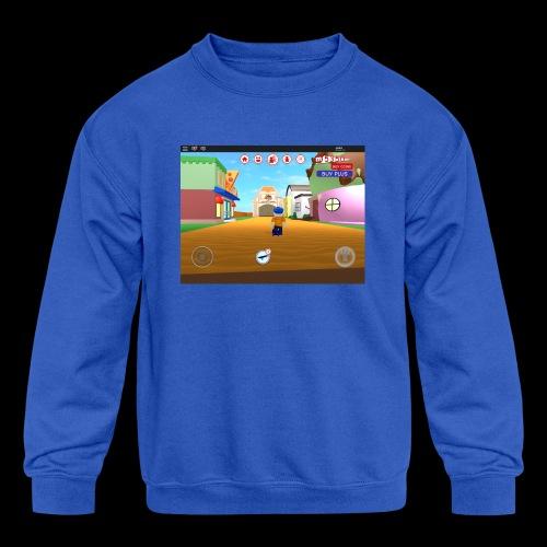 Roblox meep city - Kids' Crewneck Sweatshirt