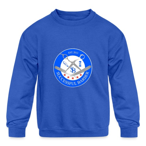 Successful Barber Seal - Kids' Crewneck Sweatshirt