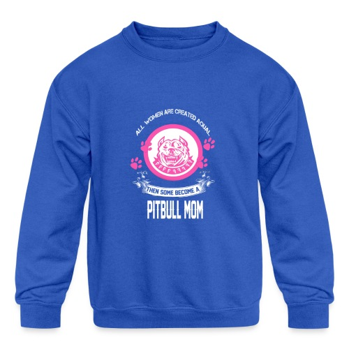 pitbullmom - Kids' Crewneck Sweatshirt