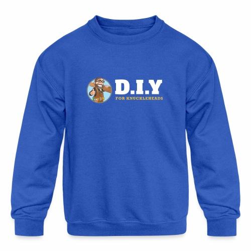 DIY For Knuckleheads Logo. - Kids' Crewneck Sweatshirt