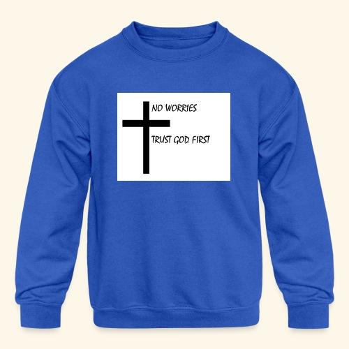 No Worries - Kids' Crewneck Sweatshirt