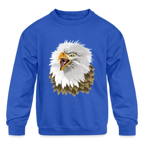 Big, Bold Eagle - Kids' Crewneck Sweatshirt