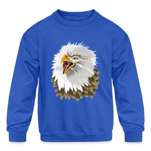 Big, Bold Eagle - Kids' Crewneck Sweatshirt