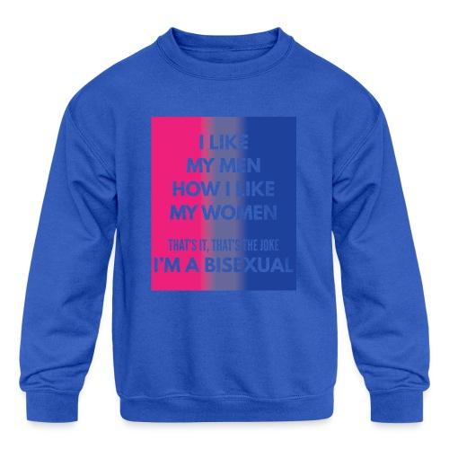 Bisexual - Bi - LGBT - Gay Pride - Gift - Kids' Crewneck Sweatshirt