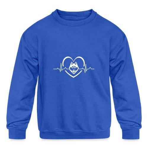Love every beat for Husky T-Shirt - Kids' Crewneck Sweatshirt
