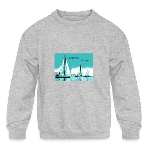 Beautiful Croatia - Kids' Crewneck Sweatshirt