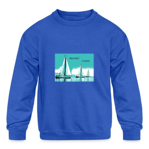 Beautiful Croatia - Kids' Crewneck Sweatshirt