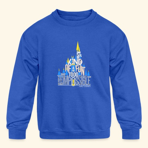 It's Kind of Fun... Original - Kid's Crewneck Sweatshirt