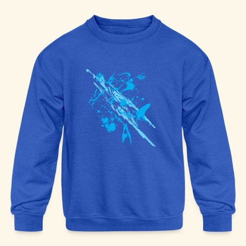Blue Splash - Kids' Crewneck Sweatshirt
