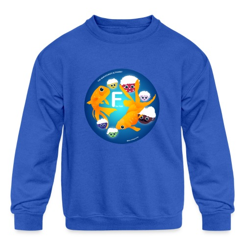 The Babyccinos The Letter F - Kids' Crewneck Sweatshirt