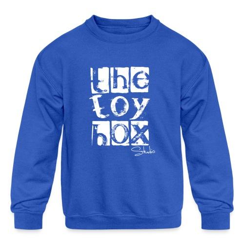 The Toy box Studio - White Logo - Kids' Crewneck Sweatshirt