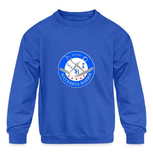 Successful Barber Seal - Kid's Crewneck Sweatshirt
