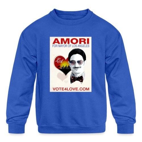 Amori for Mayor of Los Angeles eco friendly shirt - Kids' Crewneck Sweatshirt