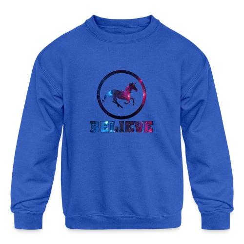 Believe Unicorn Universe 4 - Kids' Crewneck Sweatshirt