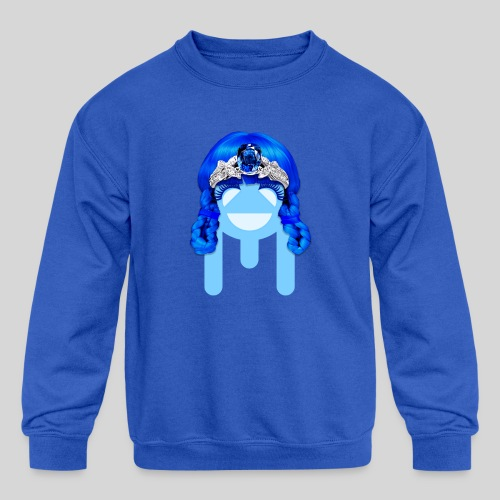 ALIENS WITH WIGS - #TeamMu - Kids' Crewneck Sweatshirt