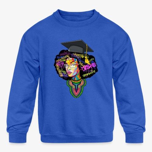 Black Educated Queen School - Kids' Crewneck Sweatshirt