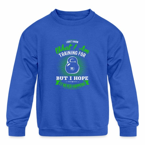 Workout Training - Kids' Crewneck Sweatshirt