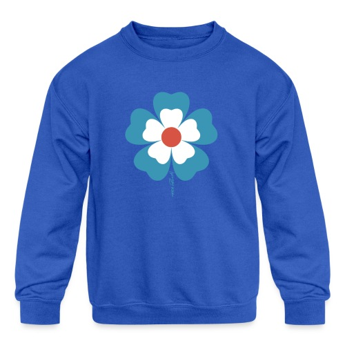 flower time - Kids' Crewneck Sweatshirt