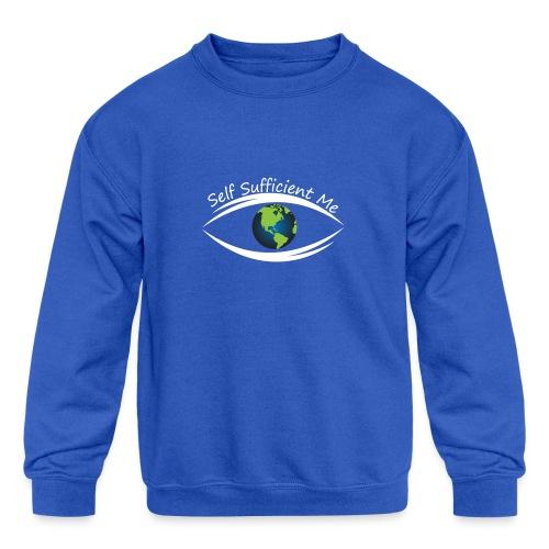 Self Sufficient Me Logo Large - Kids' Crewneck Sweatshirt
