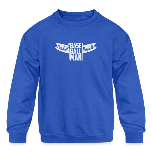 Baseball Man - Kids' Crewneck Sweatshirt