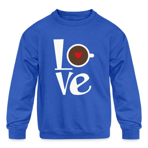 Love Coffee - Kids' Crewneck Sweatshirt