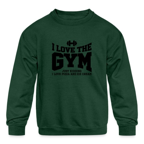 I love the gym - Kids' Crewneck Sweatshirt